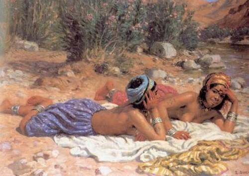 Bañistas descansando