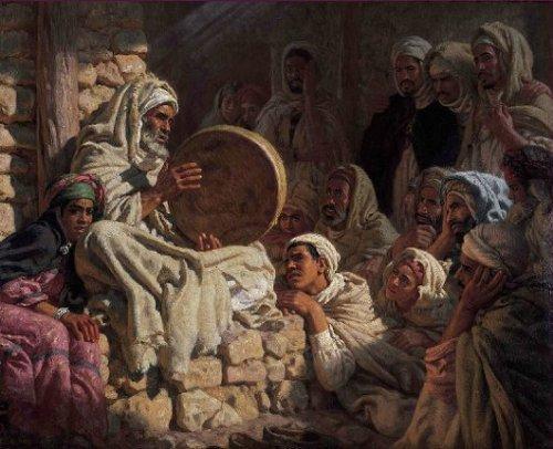 Meddah ciego recitando la historia del Profeta
