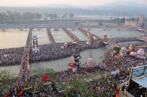 El Ganges en Haridwar, 2010. Foto: Coupdoeil