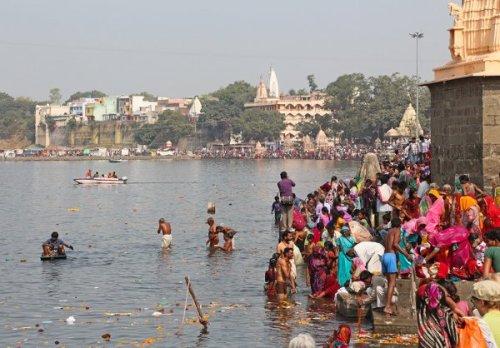 Río Kshipra en Ujjain. Foto: Bernard Gagnon.