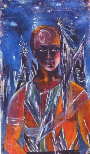 Vera (Runa) Pshesetskaya (1879-c. 1945): Retrato de Sardan (1928). Óleo sobre lienzo.