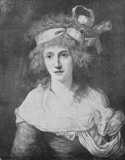 Théroigne de Méricourt: Retrato atribuido a Vestier