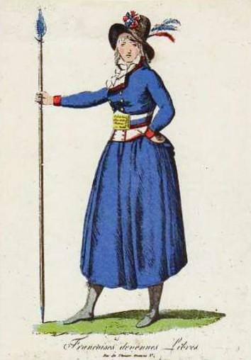 Mujer soldado en la marcha a Versalles de octubre de 1789