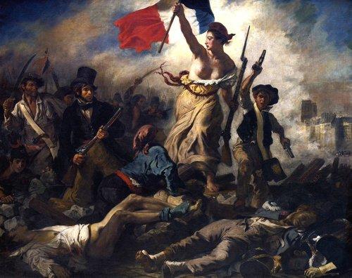 Théroigne de Méricourt guiando al pueblo.