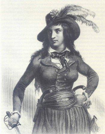 Théroigne de Méricourt por Auguste Raffet (1841)