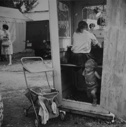 Vivian Maier. Kiddieland, Sandwich, IL, September, 1966.