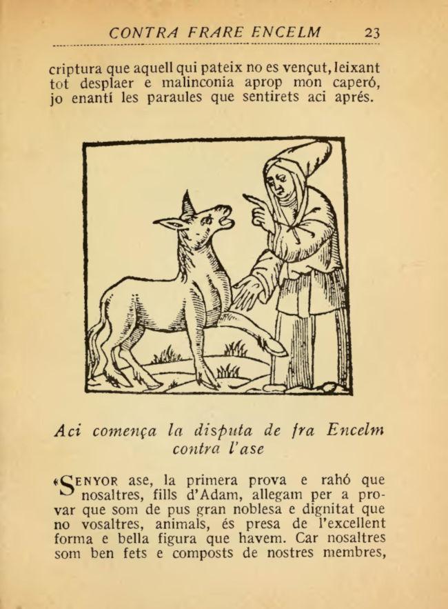 Página de La disputa del asno, edición de 1922.