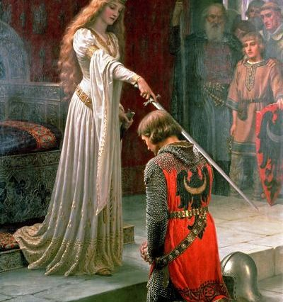 The accolade, obra del pintor Edmund Leighton