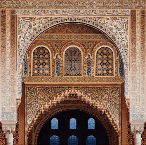 La Alhambra, Sala de la Barca. Acrílico sobre lienzo, 2015