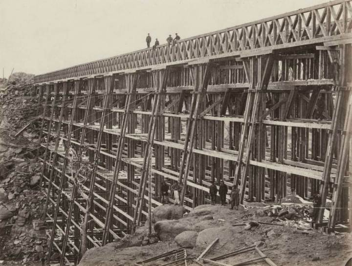 Dale Creek Bridge. Foto: Andrew J. Russell, 1864-1869.