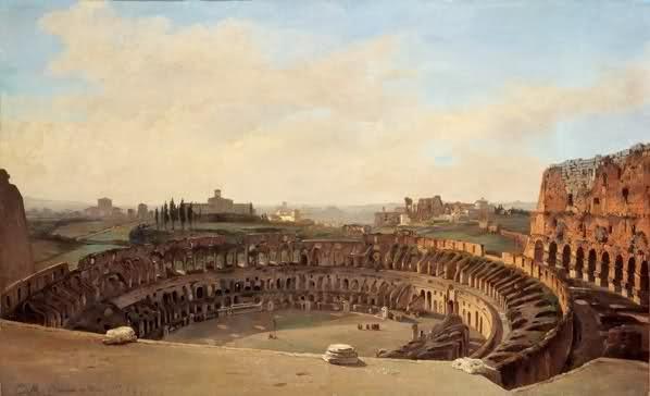 Colosseo visto dall'alto, 1855.