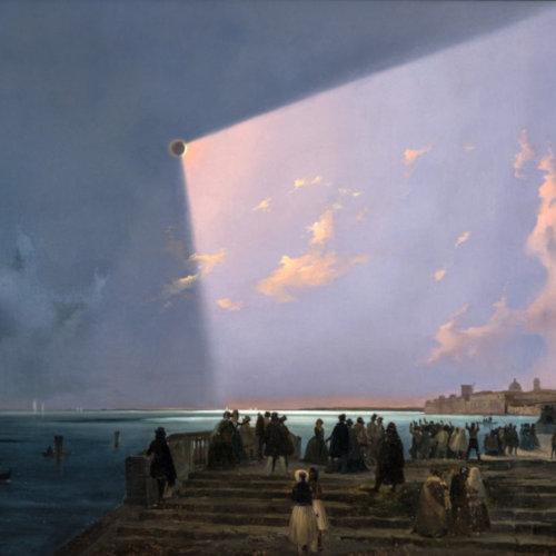 Eclissi di sole a Venezia, Ippolito Caffi