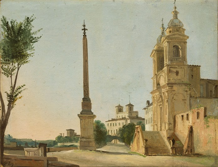 Roma: Trinita dei Monti, 1834