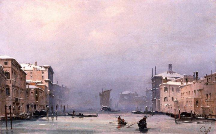 Venezia: Neve e nebbia in Canal Grande, 1842