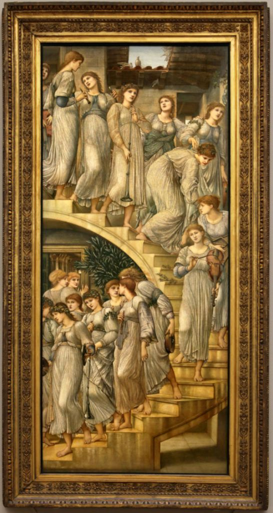 The Golden Stairs de Edward Burne-Jones, Tate Gallery (¿Cuál de ellas será Florence?).