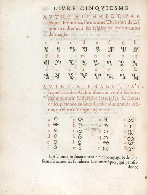 Página de la Poligrafía de Tritemo, libro que contenía la clave para descifrar el manuscrito. Foto: Wikipedia.