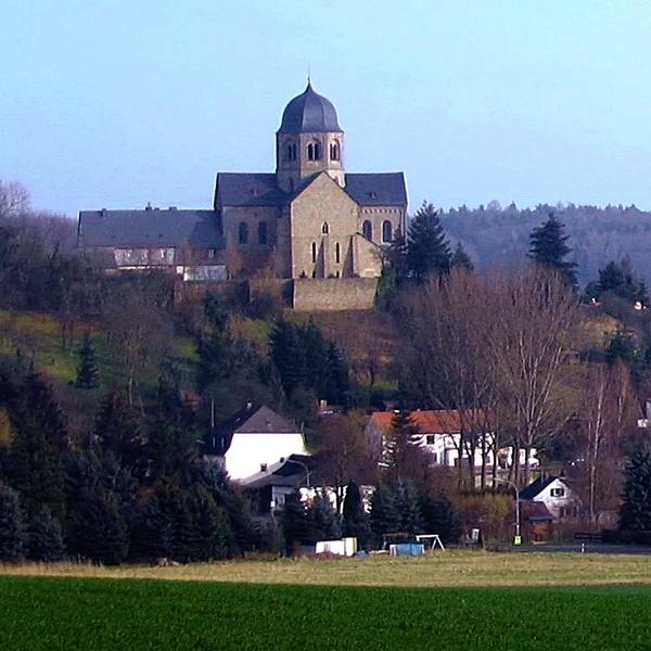 Abadía de Sponheim. Adaptación de foto original de Markus Braun, Wikipedia.