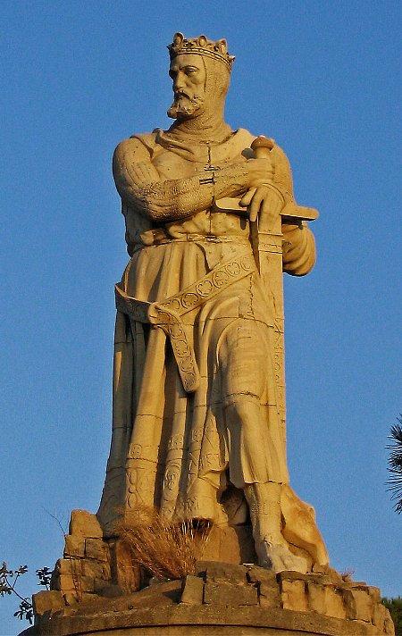 Estatua de Alfonso I El Batallador en Zaragoza. Foto: Wikipedia.