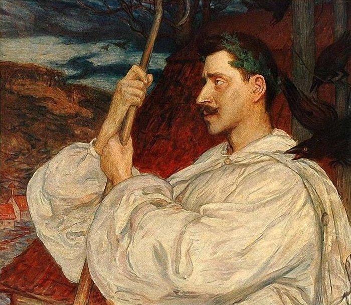 Retrato de Verner von Heidenstam en el papel del personaje de su novela Hans Alienus, por Hanna Pauli (1896). Foto: Wikipedia