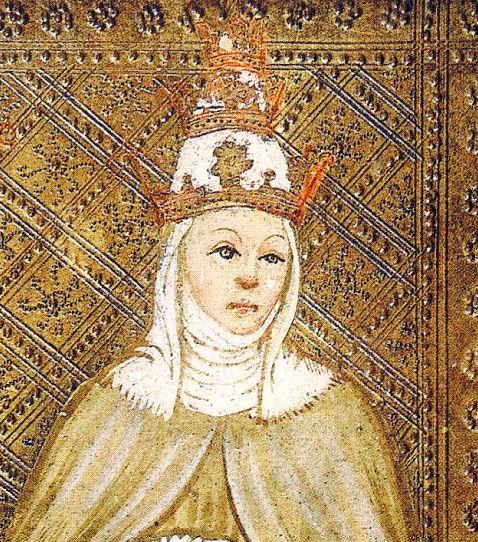 Tarot Visconti: La Papisa.