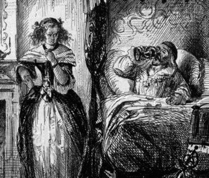 La marquesa de Brinvilliers envenenado a su padre.