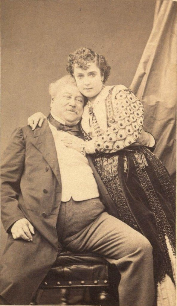 Adah Menken y Alejandro Dumas