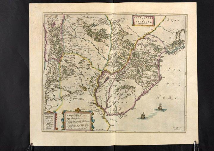 Paraguay (Río de la Plata), Vol. 12, mapa 15, Joan Blaeu, 1667.