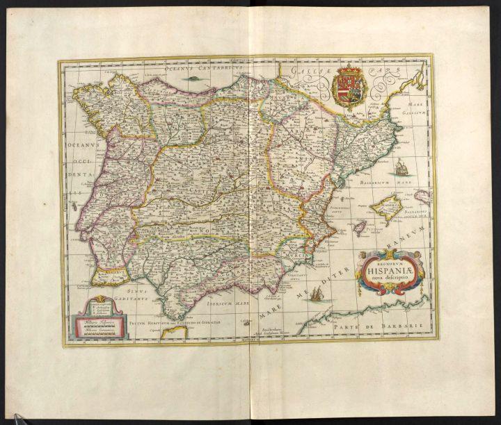 Regnorvm Hispaniae, Vol. 10, mapa 1, Joan Blaeu, 1667.