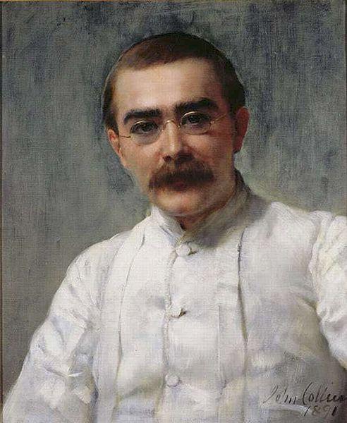 Rudyard Kipling (Bombay, 1865-Londres, 1936) retratado por John Collier en 1891.