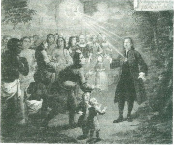 Zinzendorf predicando.